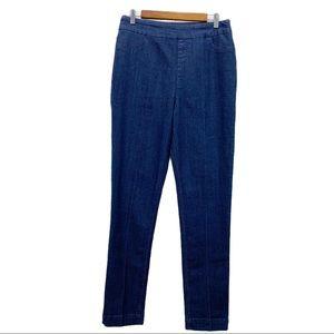 Soft Surroundings High Rise Denim Jeggings Dark Wash Pull On Jeans 30